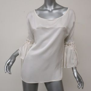 Givenchy Blouse Cream Silk Size 36  US 2